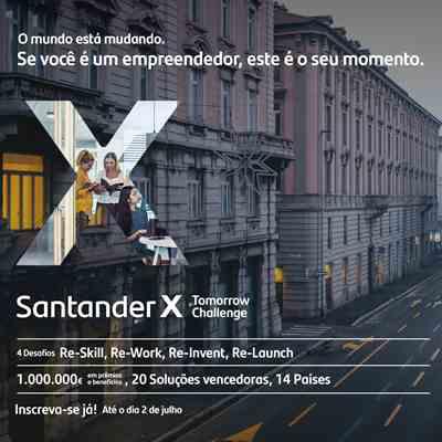 Cartaz da campanha chama empreendedores brasileiros para inscrição